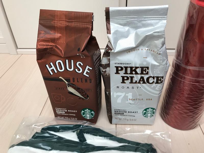 スタバ福袋 2019年 コーヒー豆2つ